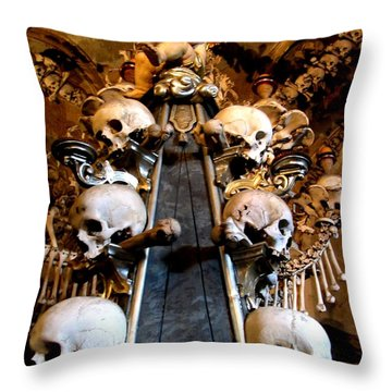 Throw Pillow featuring the photograph Kutna Hora Cz by Michelle Dallocchio
