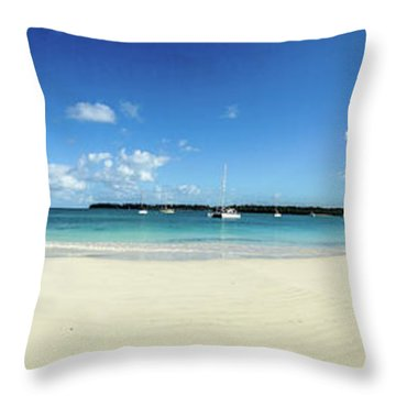 Kuto Bay Morning Pano Throw Pillow