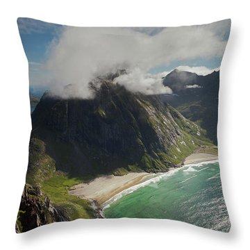 Kvalvika Beach Throw Pillow