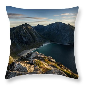 Kvalvika Beach Throw Pillow