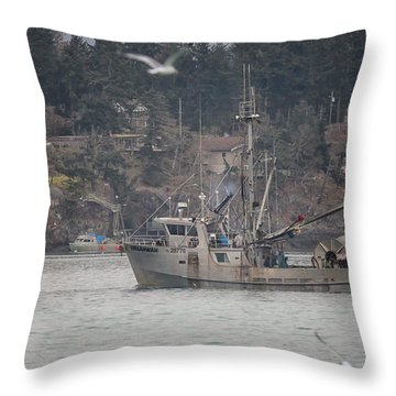 Kwiaahwah Throw Pillow by Randy Hall