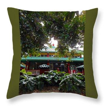 Kwon Yin Temple 4 Throw Pillow