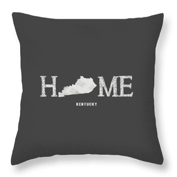 Throw Pillow featuring the mixed media Ky Home by Nancy Ingersoll
