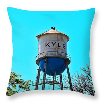 Kyle Texas Water Tower Throw Pillow