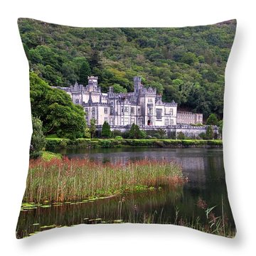 Kylemore Abbey, County Galway, Throw Pillow
