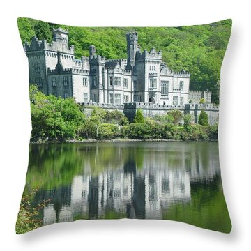Kylemore Abbey Throw Pillow by John Bushnell