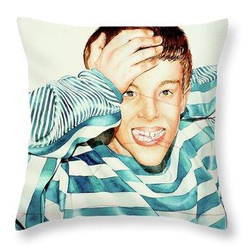 Kyle's Smile Or Fragile X Stressed Throw Pillow