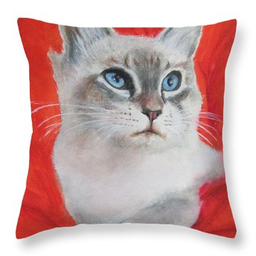 Kym's Kitty Throw Pillow