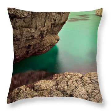 Kynance Cove Cornwall Throw Pillow