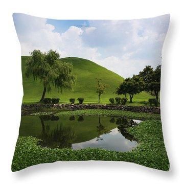 Kyongju, Tumuli Park Throw Pillow