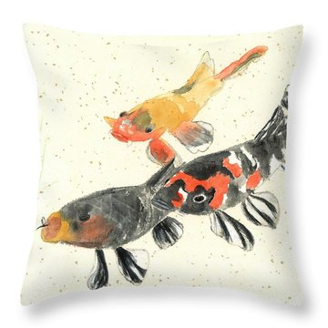 Kyoto Koi Throw Pillow