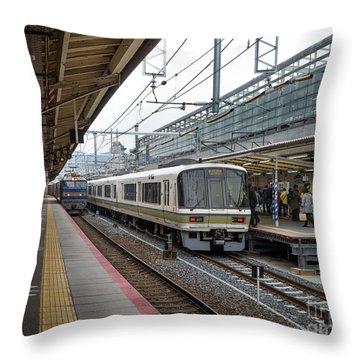 Kyoto To Osaka Train Station, Japan Throw Pillow