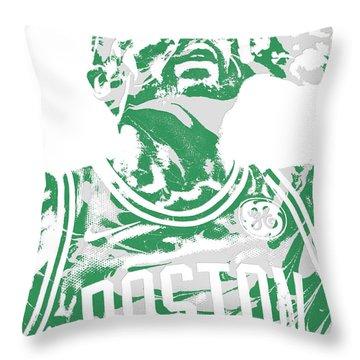 Kyrie Irving Boston Celtics Pixel Art 41 Throw Pillow