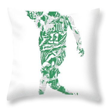 Kyrie Irving Boston Celtics Pixel Art 43 Throw Pillow