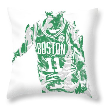Kyrie Irving Boston Celtics Pixel Art 6 Throw Pillow