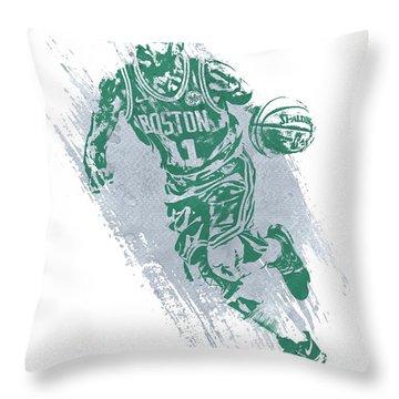 Kyrie Irving Boston Celtics Water Color Art 2 Throw Pillow