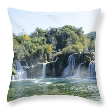 Kyrka Waterfalls Throw Pillow