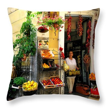 L Argogo Di Adriana  Minori Throw Pillow by Jennie Breeze