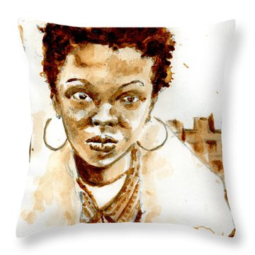 L Boogie Throw Pillow