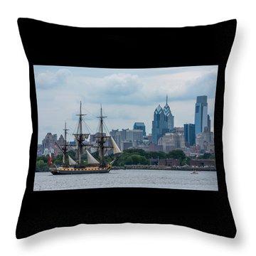 L Hermione Philadelphia Skyline Throw Pillow