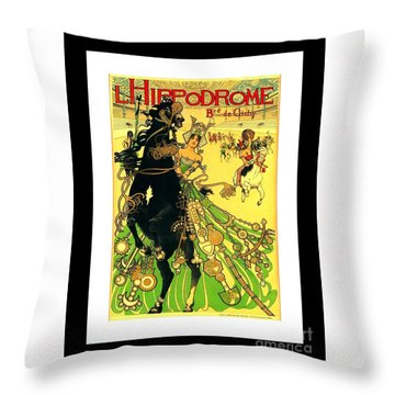 L Hippodrome 1905 Parisian Art Nouveau Poster II Manuel Orazi 1905 Throw Pillow