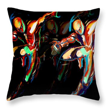 L I G H T. M O V E S Throw Pillow