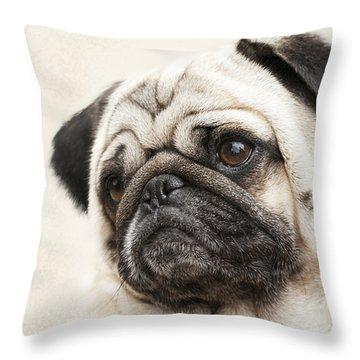 L-o-l-a Lola The Pug Throw Pillow