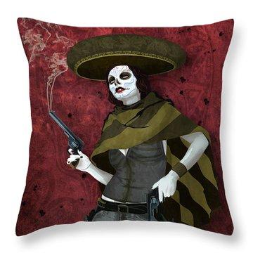 La Bandida Muerta Throw Pillow
