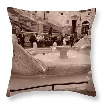 La Barcaccia Throw Pillow