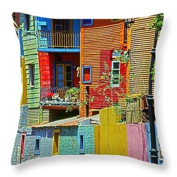 La Boca - Buenos Aires Throw Pillow