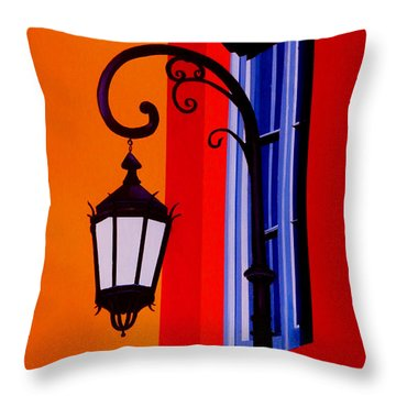 La Boca Cityscape #39 Throw Pillow