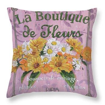 La Botanique 1 Throw Pillow