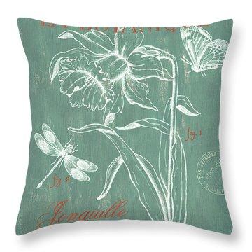 La Botanique Aqua Throw Pillow