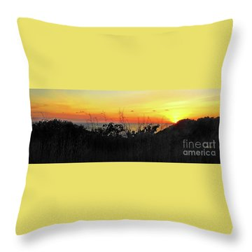 la Casita Playa Hermosa Puntarenas Costa Rica - Sunset A Panorama Throw Pillow by Felipe Adan Lerma
