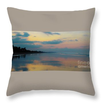 la Casita Playa Hermosa Puntarenas - Sunrise One - Painted Beach Costa Rica Panorama Throw Pillow