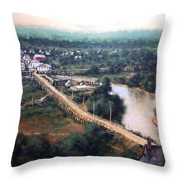 La Center Wa Circa 1915 Throw Pillow