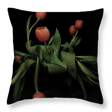 Throw Pillow featuring the photograph La Chanson Des Vieux Amants by Danica Radman