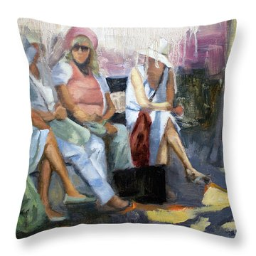 La Conversation Throw Pillow