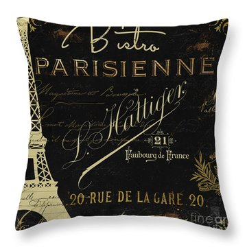 La Cuisine Vi Throw Pillow by Mindy Sommers