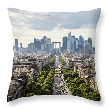 La Defense Paris Throw Pillow