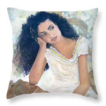 La Diosa De Hoy Throw Pillow
