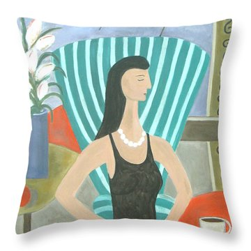 La Dolce Vita Throw Pillow by Trish Toro