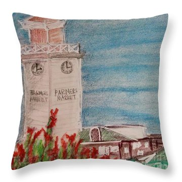 La Farmer's Market Throw Pillow