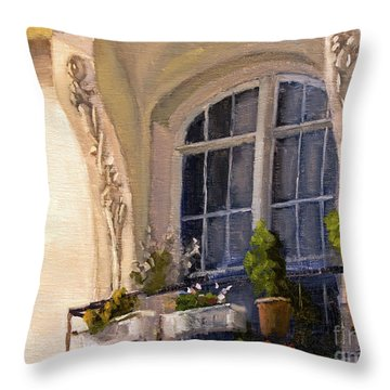 La Fenetre Throw Pillow