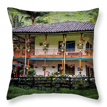 La Finca De Cafe - The Coffee Farm Throw Pillow