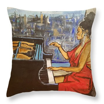 La Fleur Chloe Throw Pillow