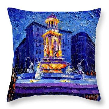 La Fontaine Des Jacobins Throw Pillow