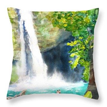 La Fortuna Waterfall Throw Pillow