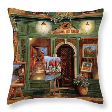 La Galleria Del Corvo Throw Pillow