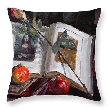 La Gioconda  Throw Pillow by Ylli Haruni